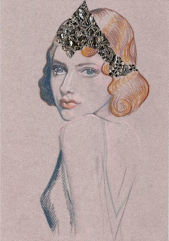 Early artist's impression of the collar / coronet by my dear, talented friend, Jessica Guthrie